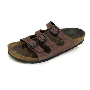 Birkenstock Florida Brown Suede Slide Sandals